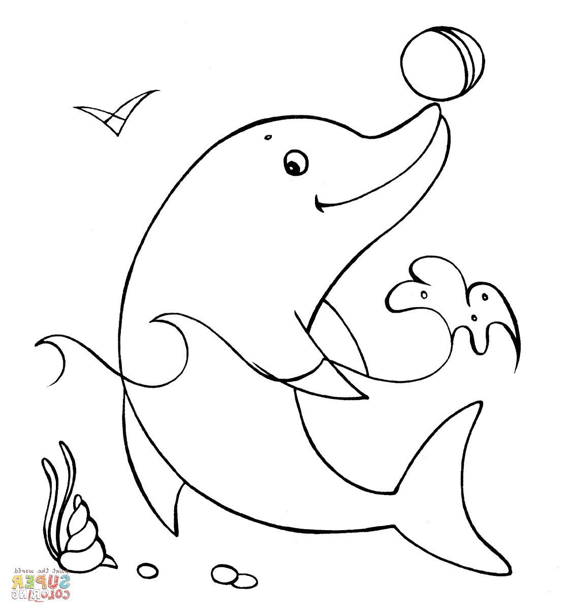 Delphin Zum Ausmalen Frisch 34 Einzigartig Delfin Ausmalbilder – Große Coloring Page Sammlung Sammlung