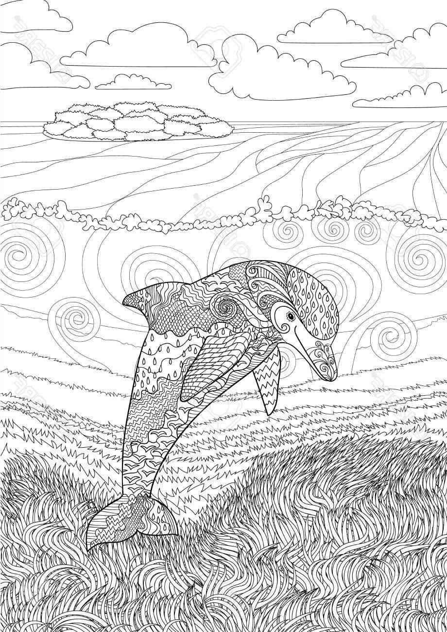 Delphin Zum Ausmalen Frisch 34 Einzigartig Delfin Ausmalbilder – Große Coloring Page Sammlung Stock