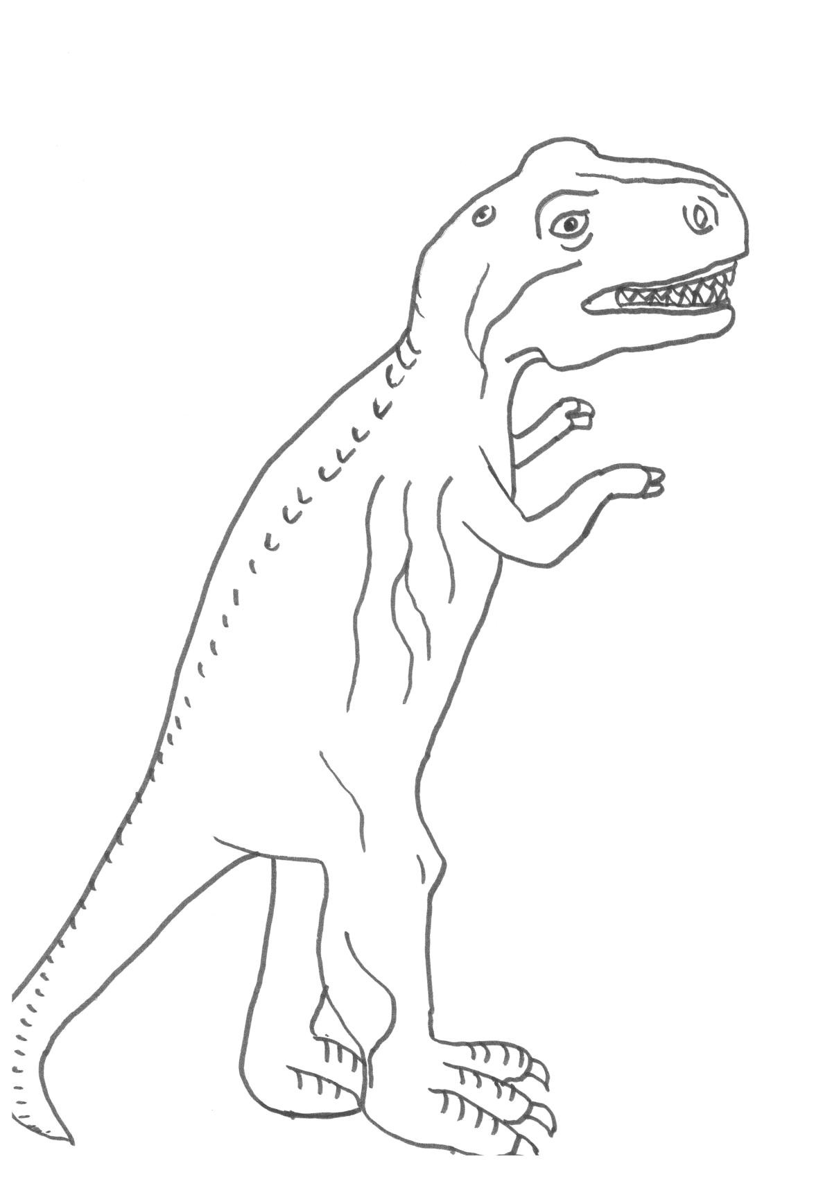Dinosaurier Ausmalbilder Tyrannosaurus Rex Neu Tyrannosaurus Rex Bilder Zum Ausdrucken — Hylenddawards Stock