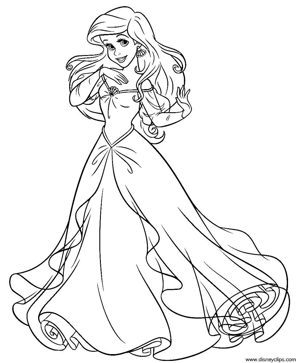 Disney Prinzessinnen Zeichnen Neu Mermaid Coloring Disney the Little Mermaid Coloring Pages Printable Bild