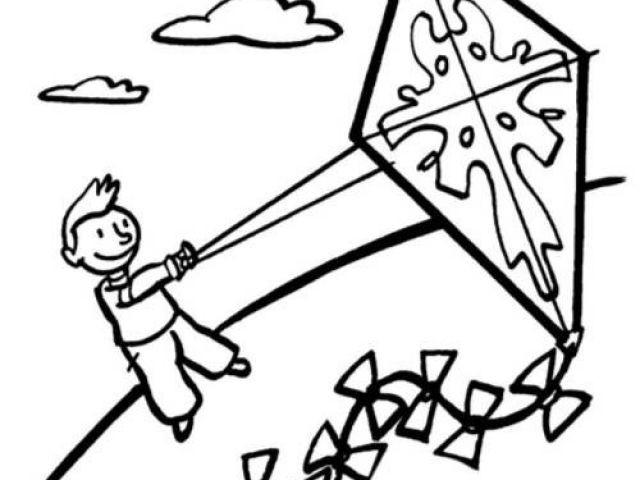 Drachen Steigen Malvorlage Frisch Kostenlose Malvorlage Herbst Junge Lässt Seinen Drachen Steigen Zum Bilder