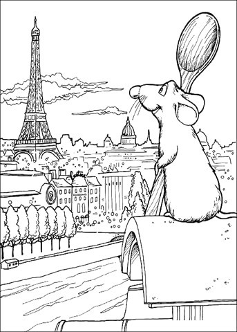 Eiffelturm Zum Ausmalen Einzigartig Ausmalbild Remy Bewundert Den Eiffelturm Ausmalbilder Kostenlos Avec Sammlung