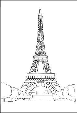 Eiffelturm Zum Ausmalen Inspirierend Ausmalbild Vom Eiffelturm In Paris Avec Eiffelturm Zum Ausmalen Et Fotos