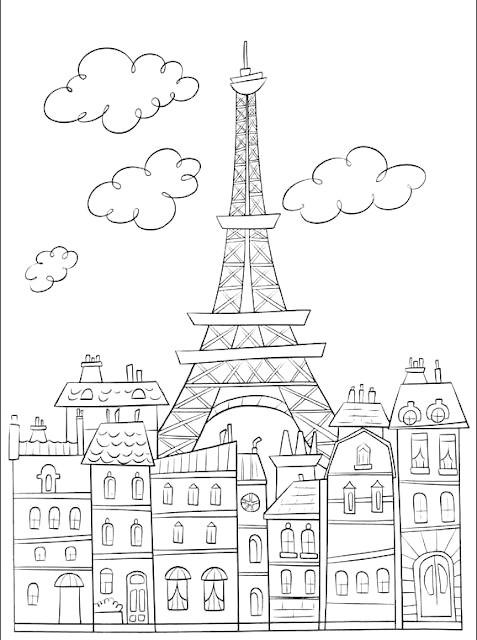 Eiffelturm Zum Ausmalen Neu Coloring Page Eiffel tower Coloring Pinterest Ausmalen Avec Galerie