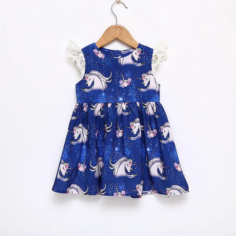 Einhorn Bilder Zum Drucken Inspirierend Großhandel Baby Mädchen Einhorn Kleid Ins Kinder Drucken Spitze Das Bild