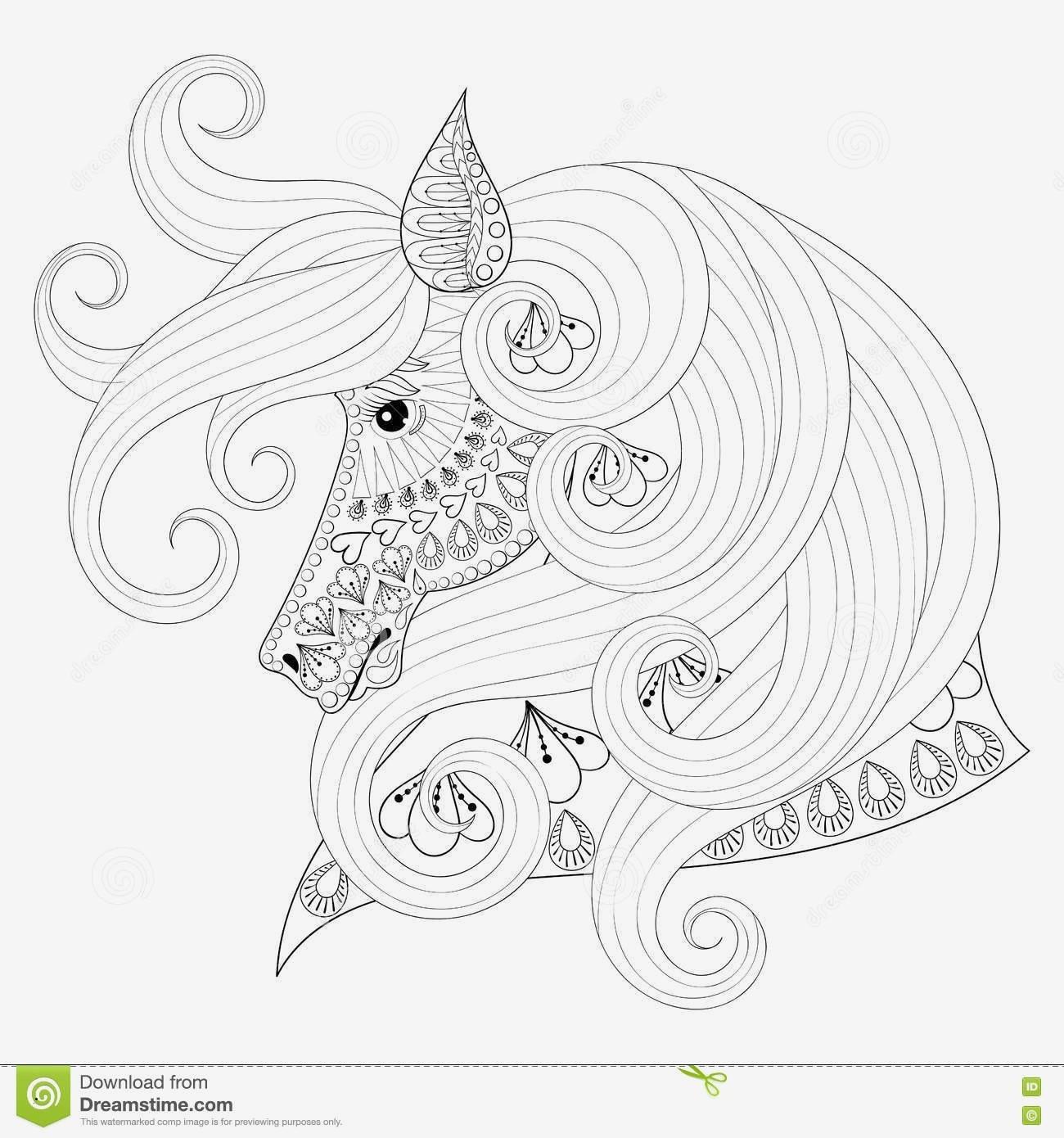 Einhorn Mandala Erwachsene Das Beste Von 36 Entwurf Ausmalbilder Mandala Pferde Treehouse Nyc Stock