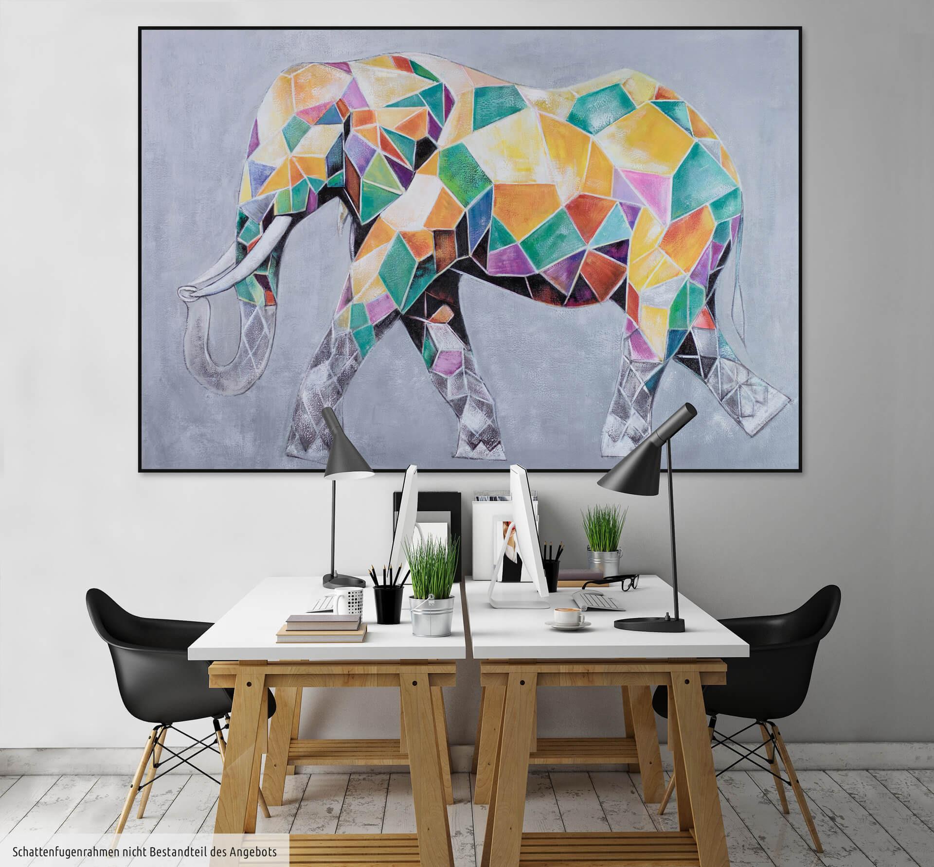 Elefant Zum Ausdrucken Genial Xxl Gemälde –l Elefant Bunt Kaufen Bild