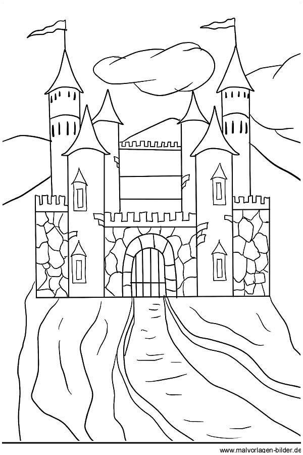 Elsa Im Schloss Ausmalbilder Neu Ritterburg Ausmalbild Und Malvorlage Für Kinder Druckfertig Stock