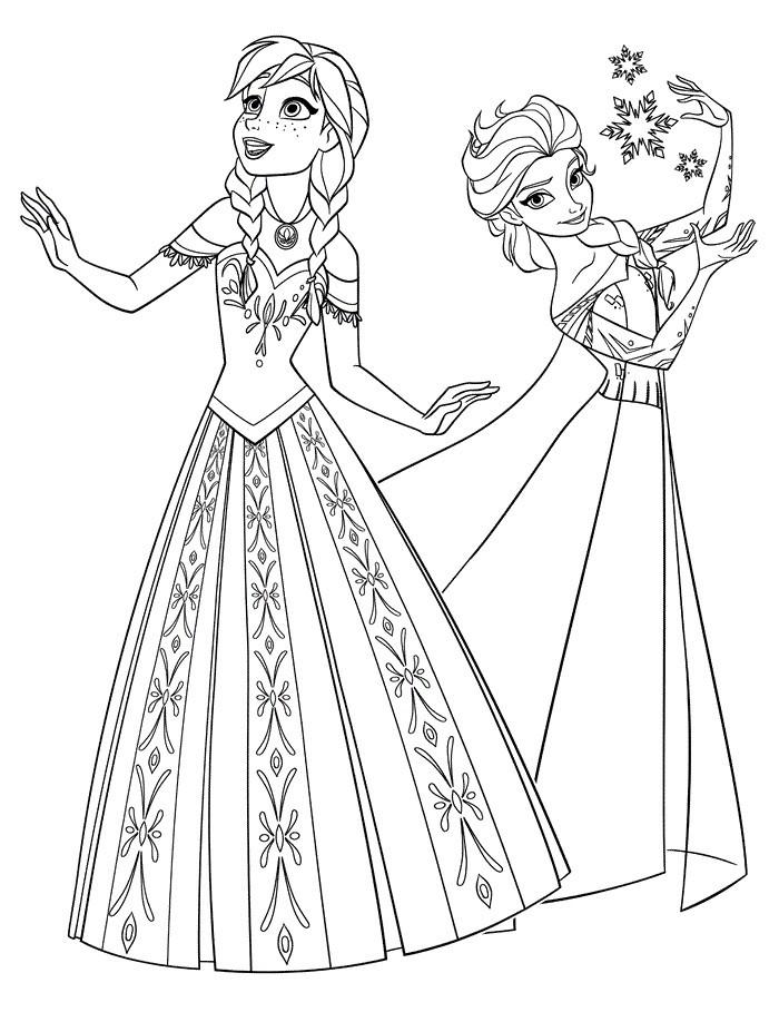 Elsa Und Anna Zum Ausmalen Frisch Elsa Und Anna Ausmalbilder 01 Ausmalbilder Pinterest Färbung Elsa Sammlung