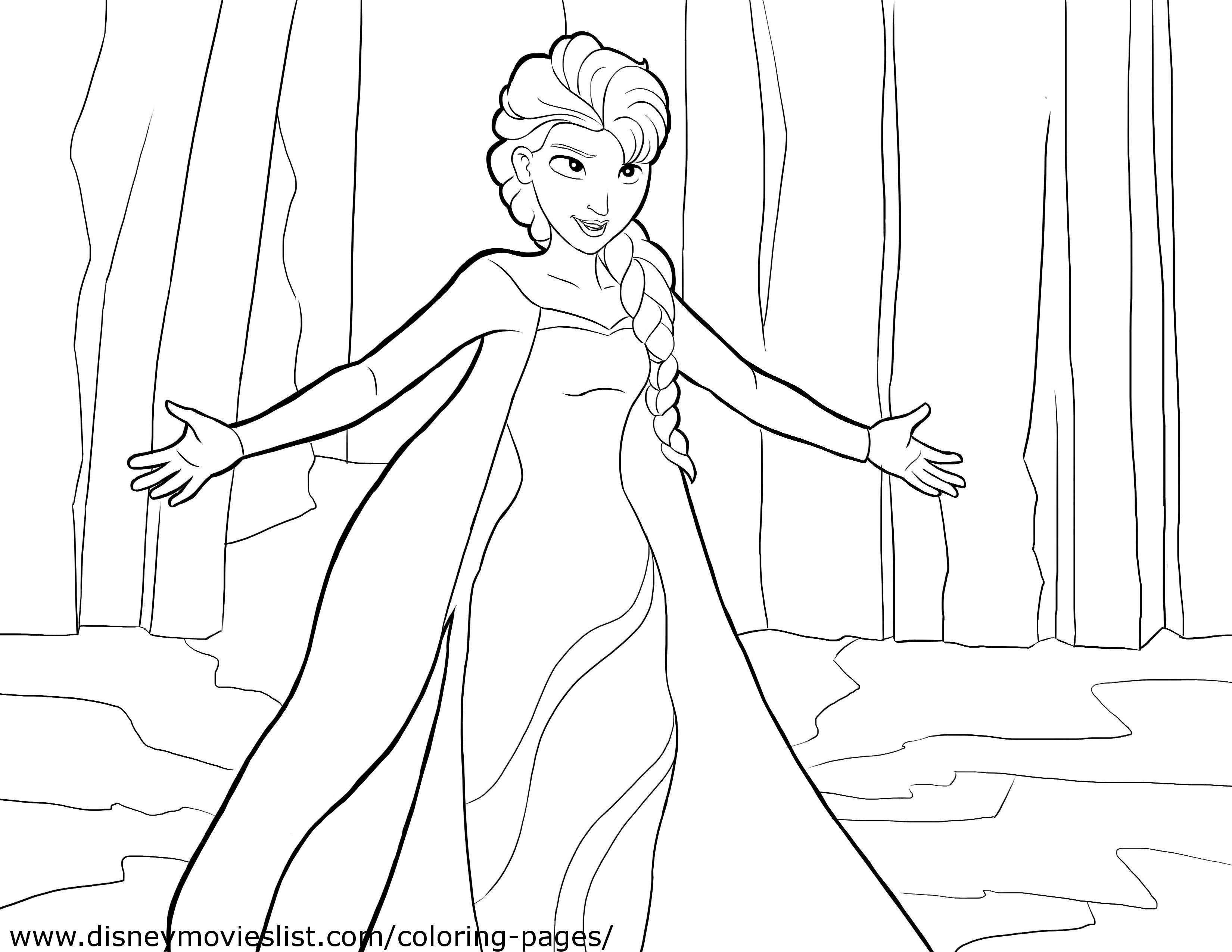 Elsa Und Anna Zum Ausmalen Inspirierend Malvorlagen Elsa Und Anna Schön Disney Princess Elsa Coloring Pages Fotografieren