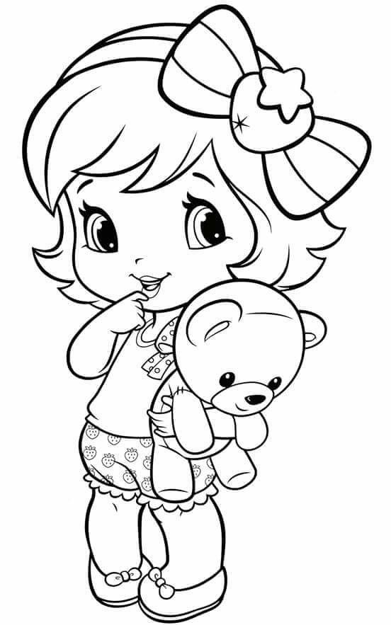 Emily Erdbeer Ausmalbilder Das Beste Von Coloring Pages Little Girl §ini Pinterest Bilder