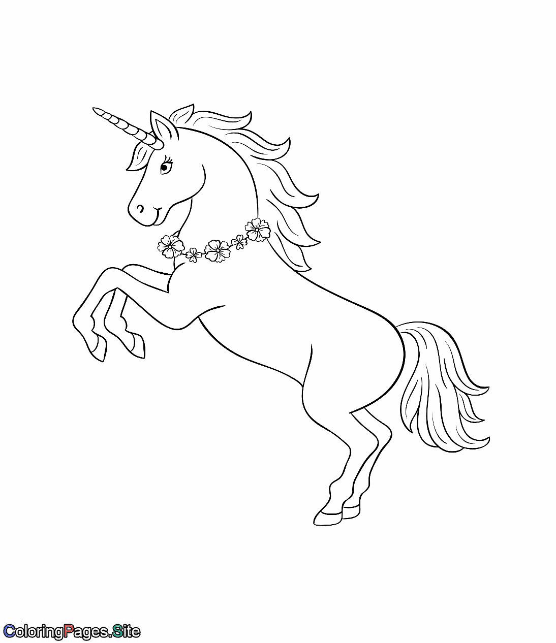 Emojis Zum Ausmalen Frisch Unicorn with A Flowers Necklace Coloring Page Best Ausmalbilder Fotos