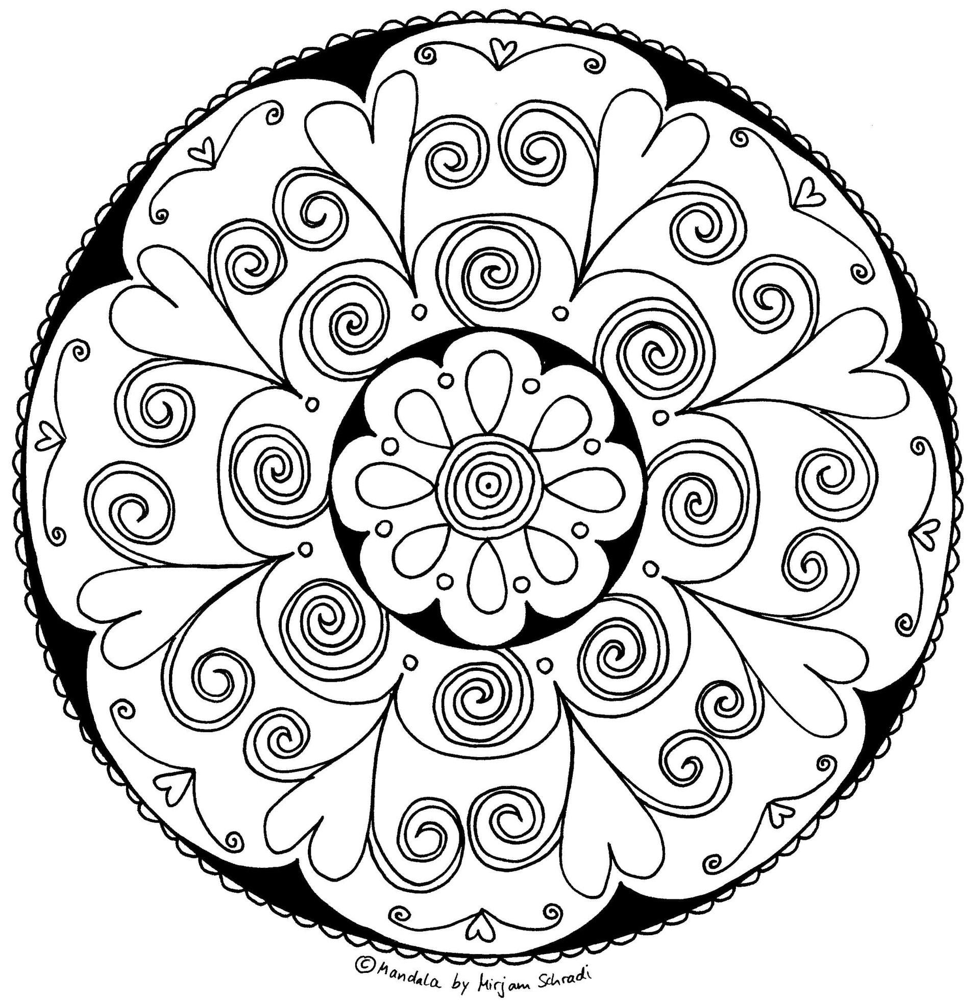 Erdmännchen Zum Ausmalen Genial Süßes Herz Mandala Für Kinder Teenager Mandalamalspiel Das Bild