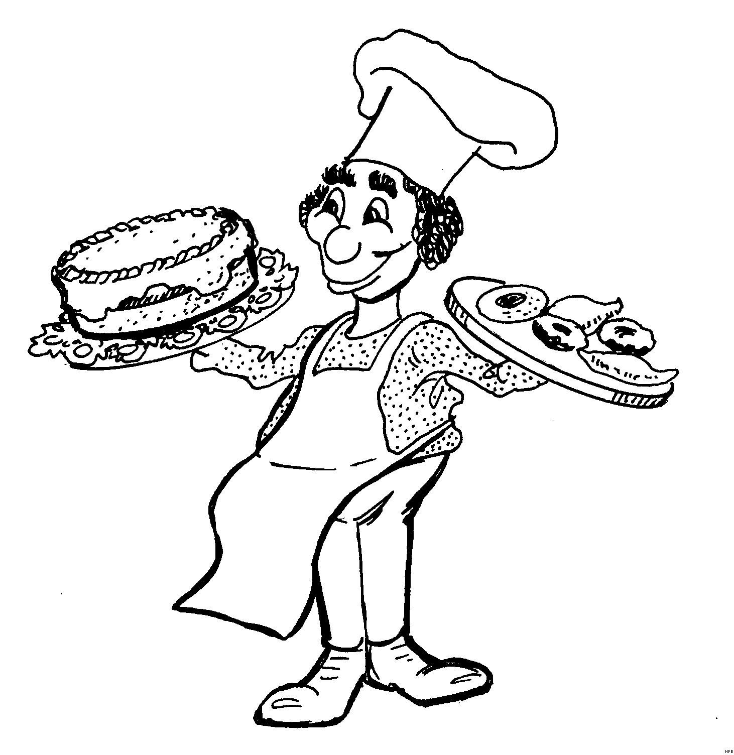 Essen Zum Ausmalen Neu Koch Mit Kuchen Ausmalbild & Malvorlage Essen Und Trinken Neu Kuchen Fotografieren