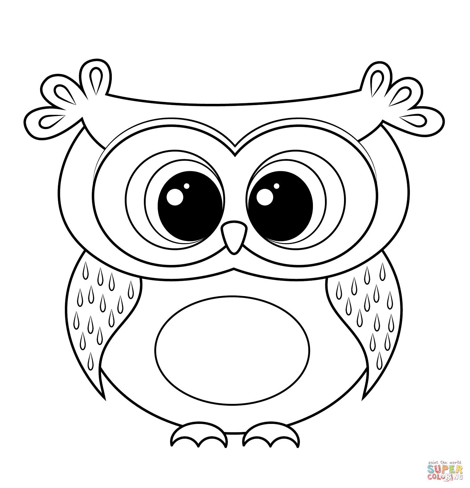 Eulen Auf ast Malvorlagen Einzigartig Malvorlagen Herbst Eule Beautiful Cartoon Owl Coloring Page Sammlung