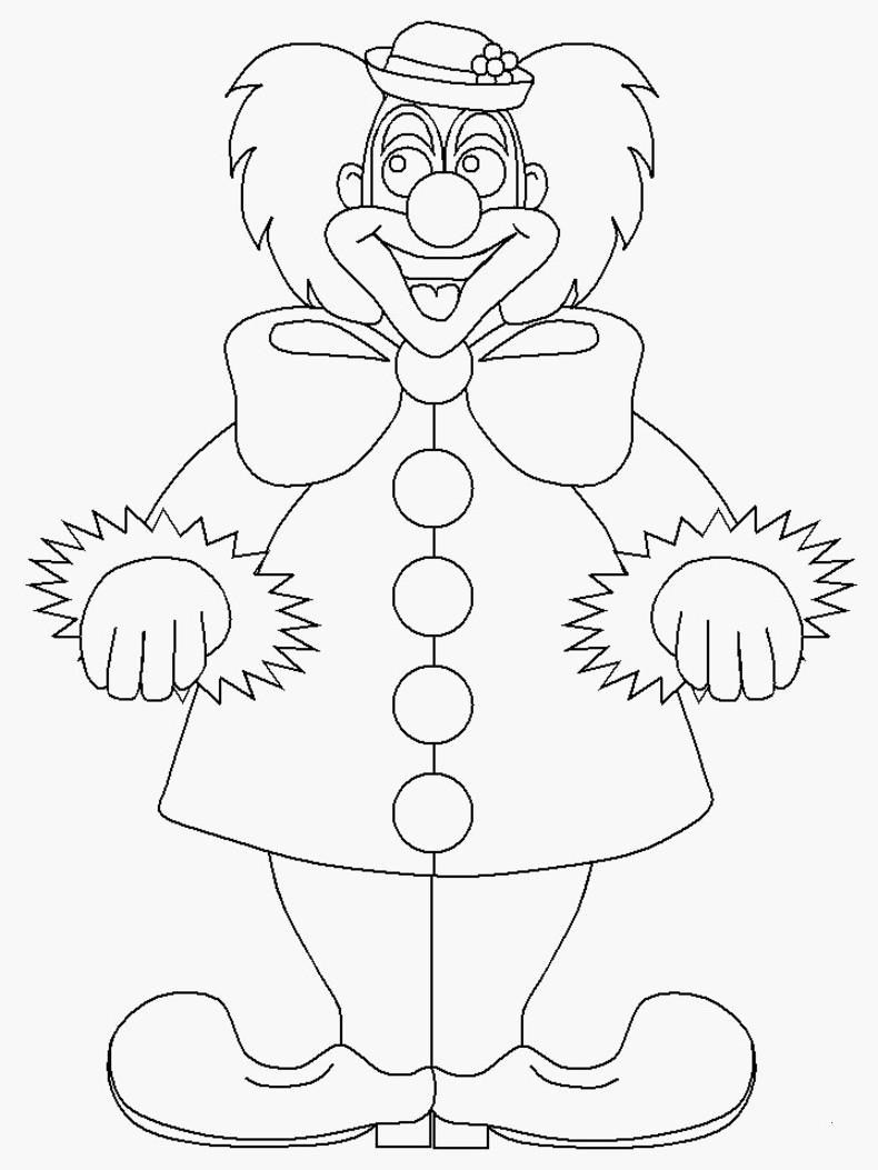 Fasching Ausmalbilder Clown Genial 25 Schön Clown Zum Ausmalen – Malvorlagen Ideen Bilder