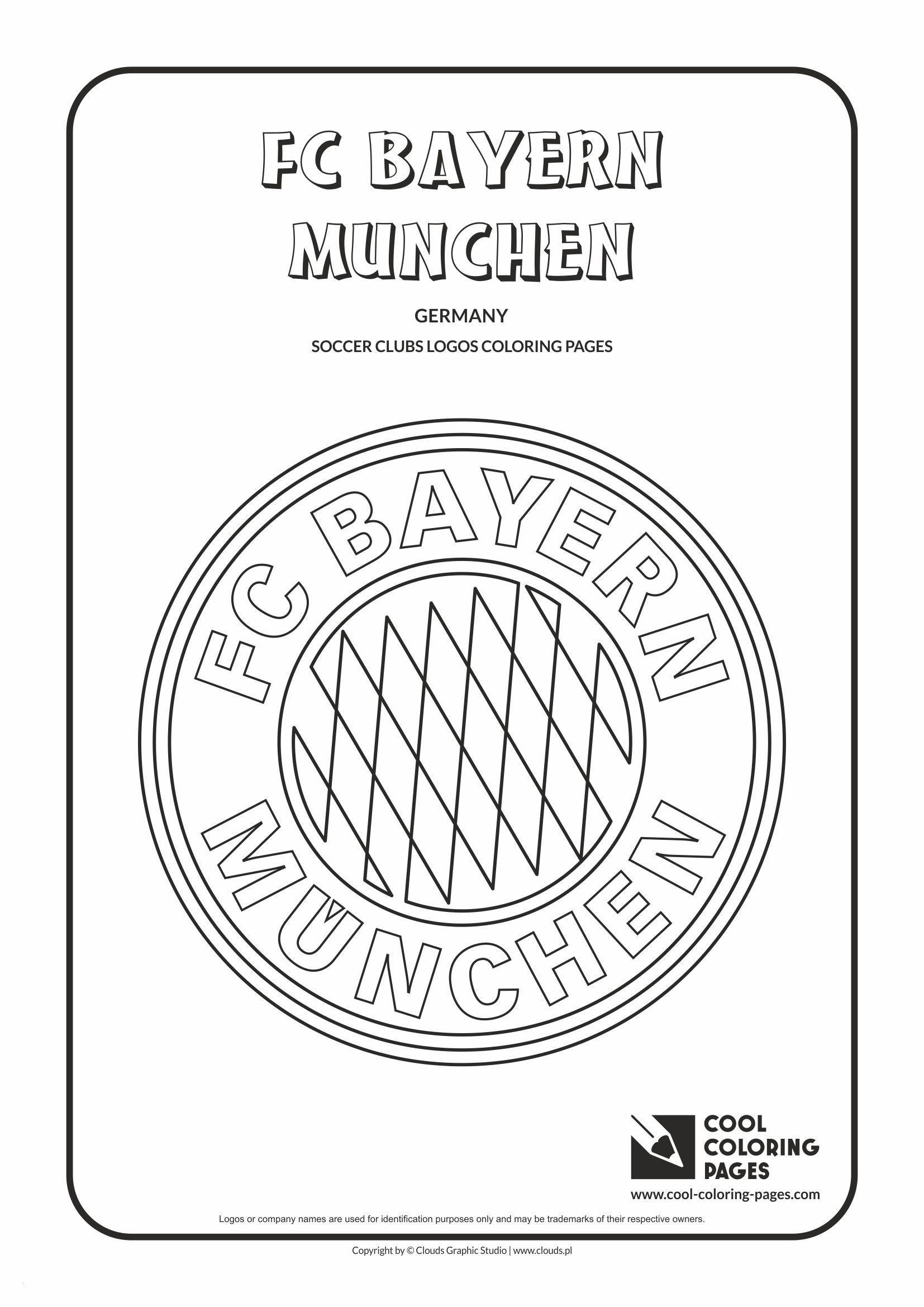 Fc Bayern Logo Zum Ausdrucken Frisch Bayern Ausmalbilder Genial Cool Coloring Pages soccer Club Logos Fc Stock