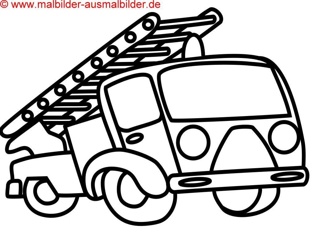 Feuerwehr Bilder Zum Ausmalen Einzigartig Feuerwehrauto Zum Ausmalen – Ausmalbilder Für Kinder Bild