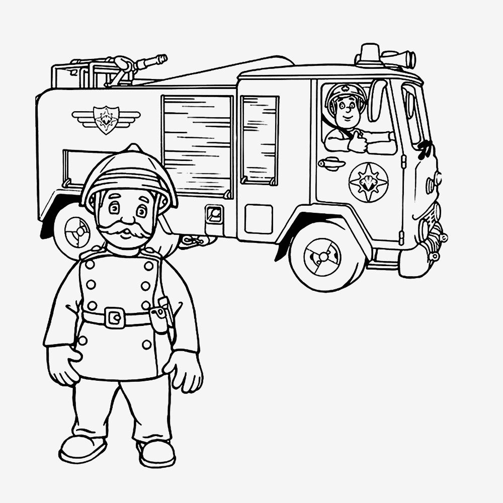 Feuerwehrmann Sam Ausmalbilder Zum Ausdrucken Genial Bildergalerie & Bilder Zum Ausmalen Malvorlage Feuerwehrmann Sam Bilder