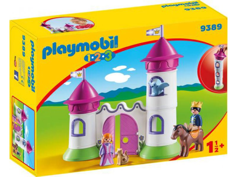Filly Pferd Turm Genial Schlösschen Mit Stapelturm Playmobil 1 2 3 Bild