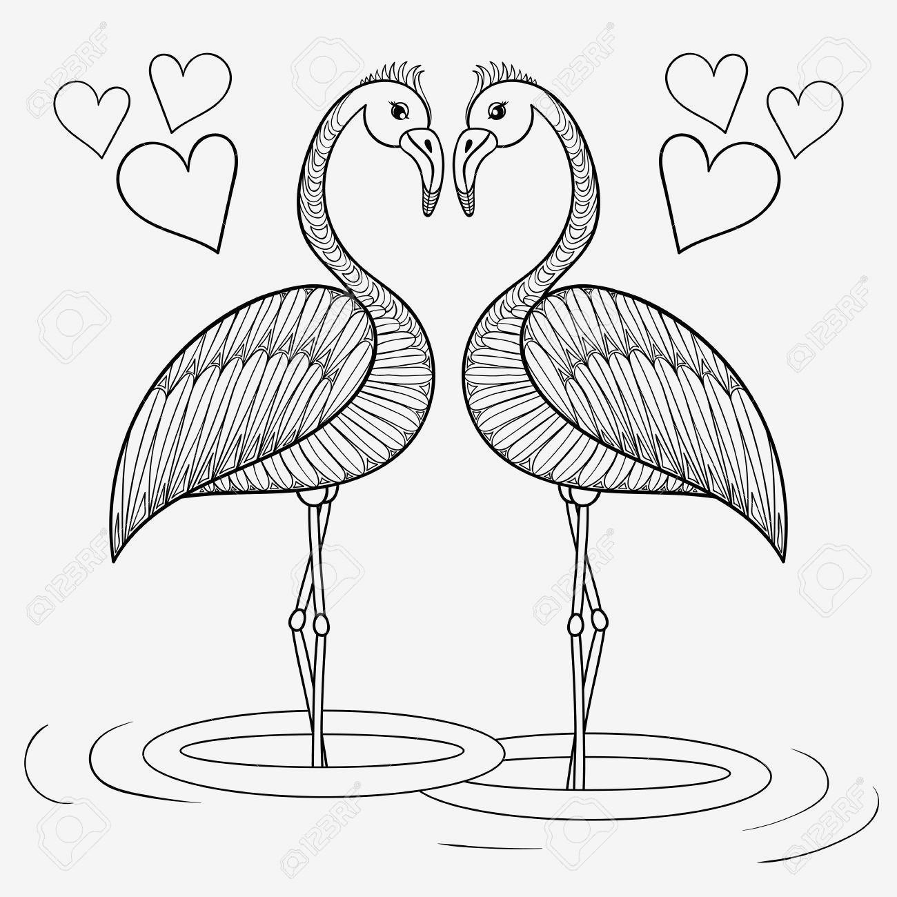 Flamingo Zum Ausmalen Genial Spannende Coloring Bilder Ausmalbild Vogel Sammlung
