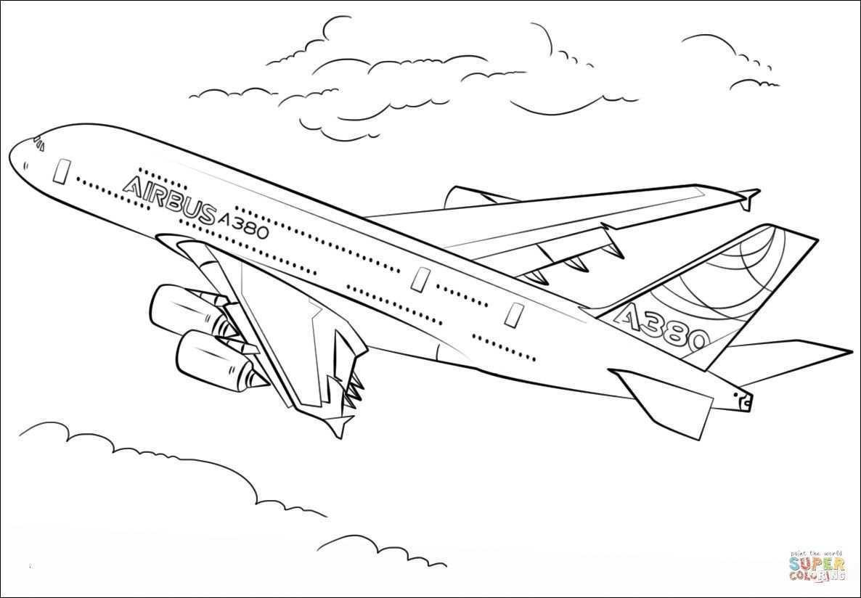 Flugzeuge Zum Ausmalen Einzigartig Flugzeug Malvorlage A380 Idee Ausmalbilder Flugzeuge A380 Das Bild