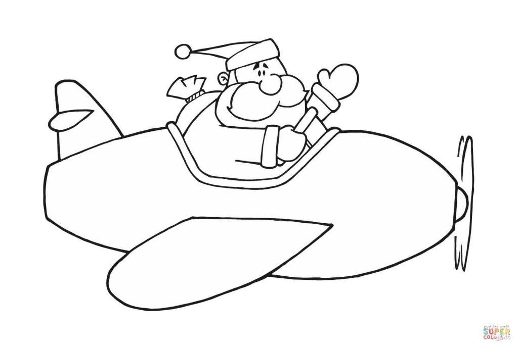 Flugzeuge Zum Ausmalen Frisch Janbleil Ausmalbild Der Weihnachtsmann Im Flugzeug Ausmalbilder Fotografieren