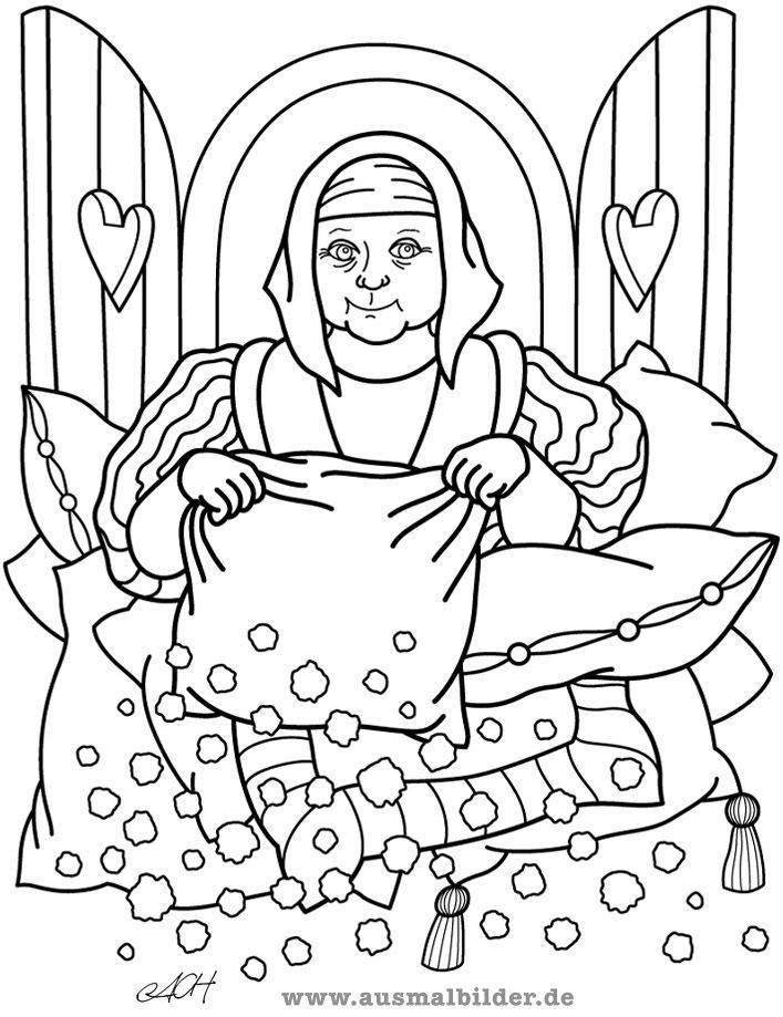 Frau Holle Ausmalbild Inspirierend Bildergebnis Für Frau Holle Street Art Pinterest Bilder
