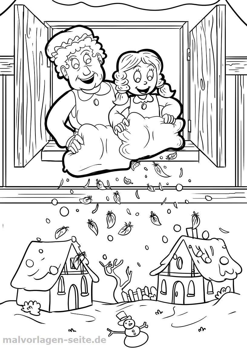 Frau Holle Ausmalbild Neu Zum Downl Zaubere Ausmalbild Märchen Bilder