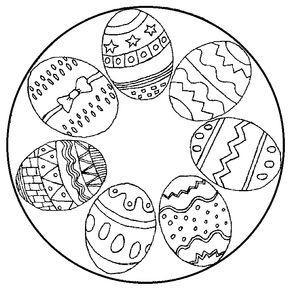 Frohe Ostern Bilder Zum Ausmalen Genial Ostereier Mandala Ausmalbild Schule Galerie