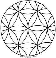 Geometrische Muster Zum Ausmalen Das Beste Von Blume Des Lebens Mandala Ausmalbilder Vorlage Mandalas Zum Bild