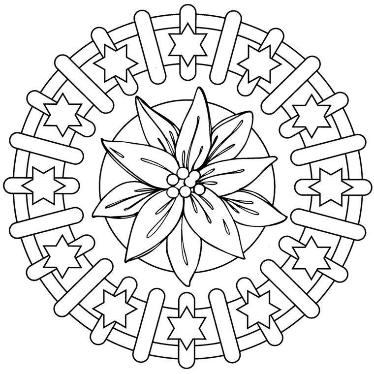 Geometrische Muster Zum Ausmalen Das Beste Von Coloriage Mandala Ce1 A Imprimer Gratuit Coloring 3 Bild