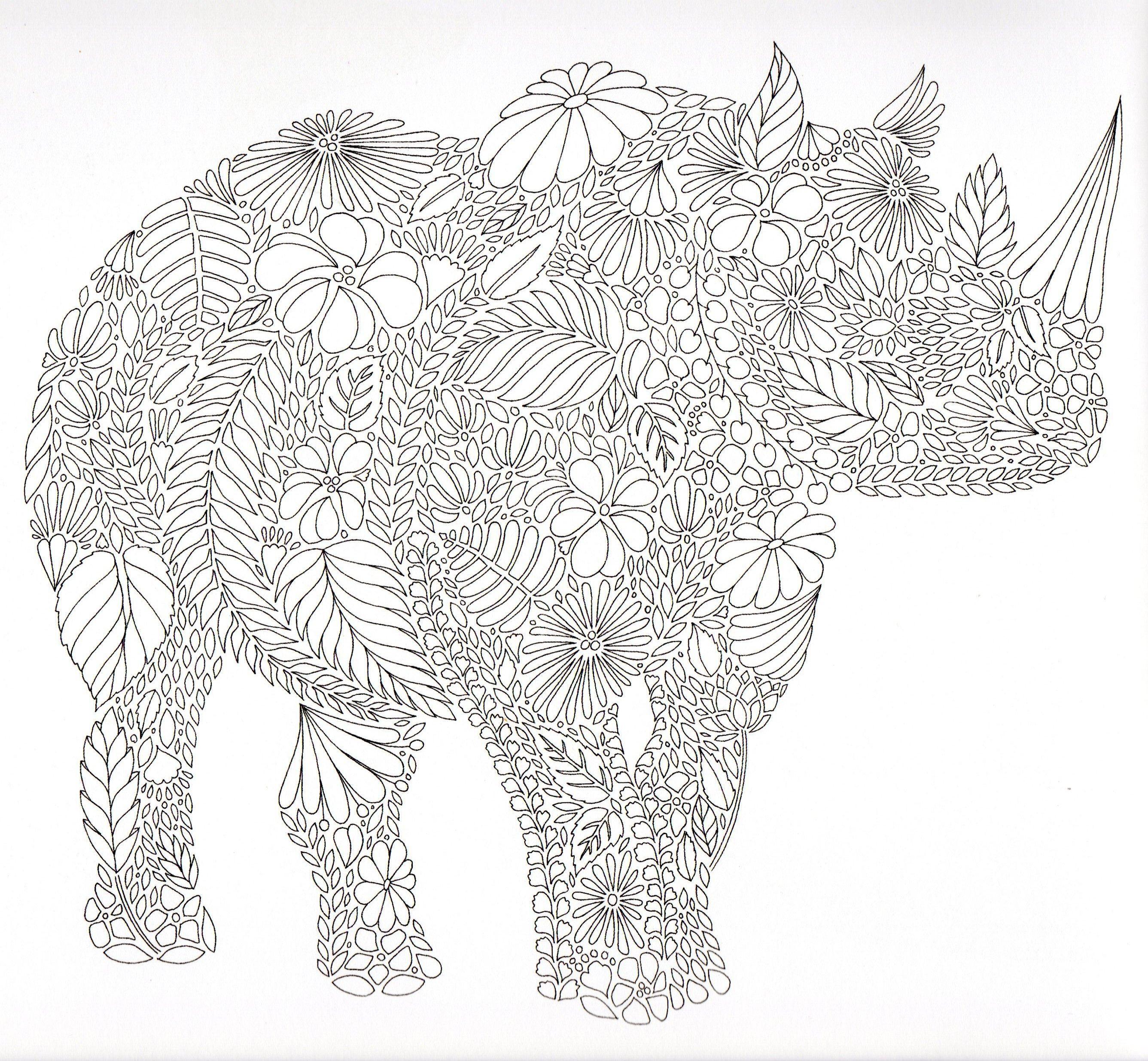 Geometrische Muster Zum Ausmalen Frisch Mandala Nashorn Das Bild