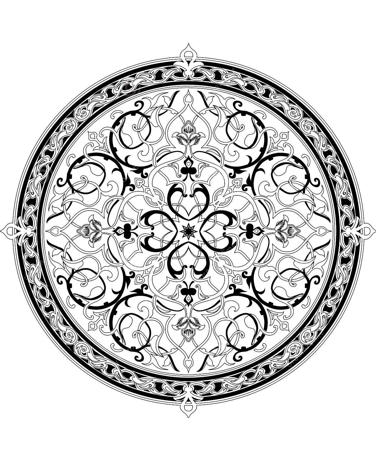 Geometrische Muster Zum Ausmalen Inspirierend Pour Imprimer Ce Coloriage Gratuit Coloriage Adulte oriental Fotos