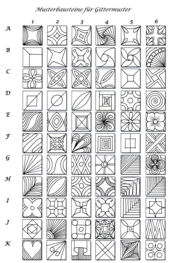 Geometrische Muster Zum Ausmalen Neu Meine Mustergalerie Art Ideas Pinterest Sammlung