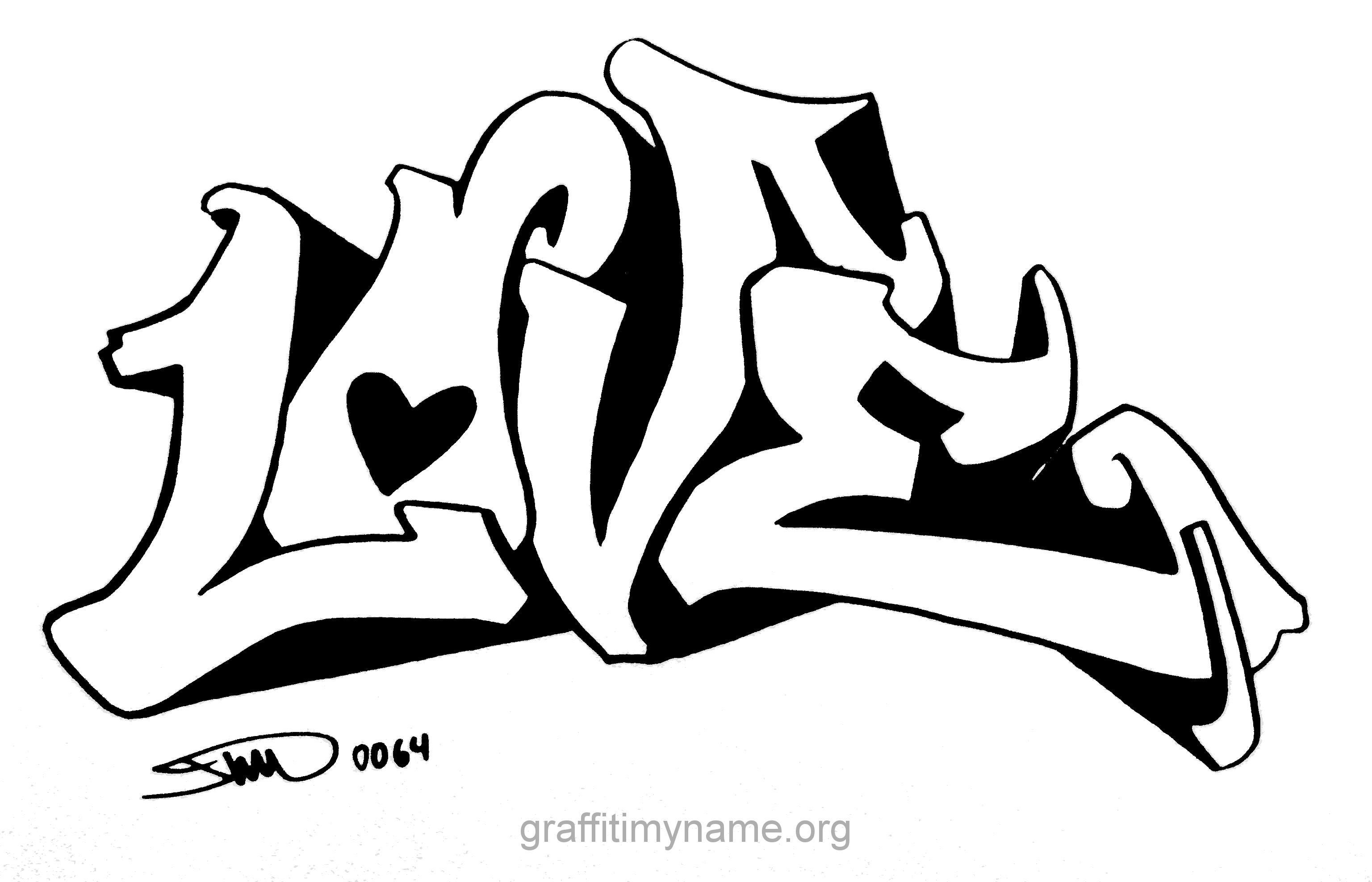 Malvorlagen Graffiti Love Malvorlagencr