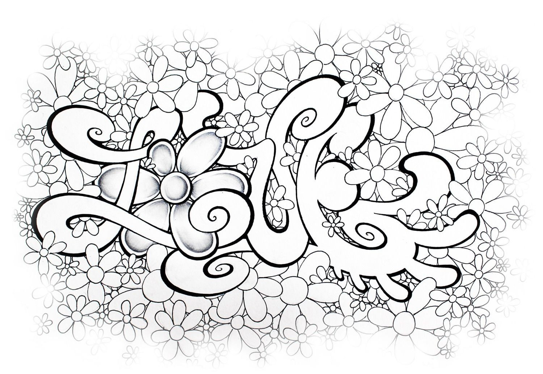 Graffiti Schrift Zum Ausmalen Frisch 45 Inspirierend Ausmalbilder Graffiti Love Mickeycarrollmunchkin Bild