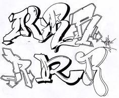 Graffiti Schrift Zum Ausmalen Frisch Graffiti Buchstaben A Z Kunst Bilder