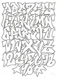 Graffiti Schrift Zum Ausmalen Inspirierend 223 Besten Graffiti Alphabet Bilder Auf Pinterest In 2018 Das Bild