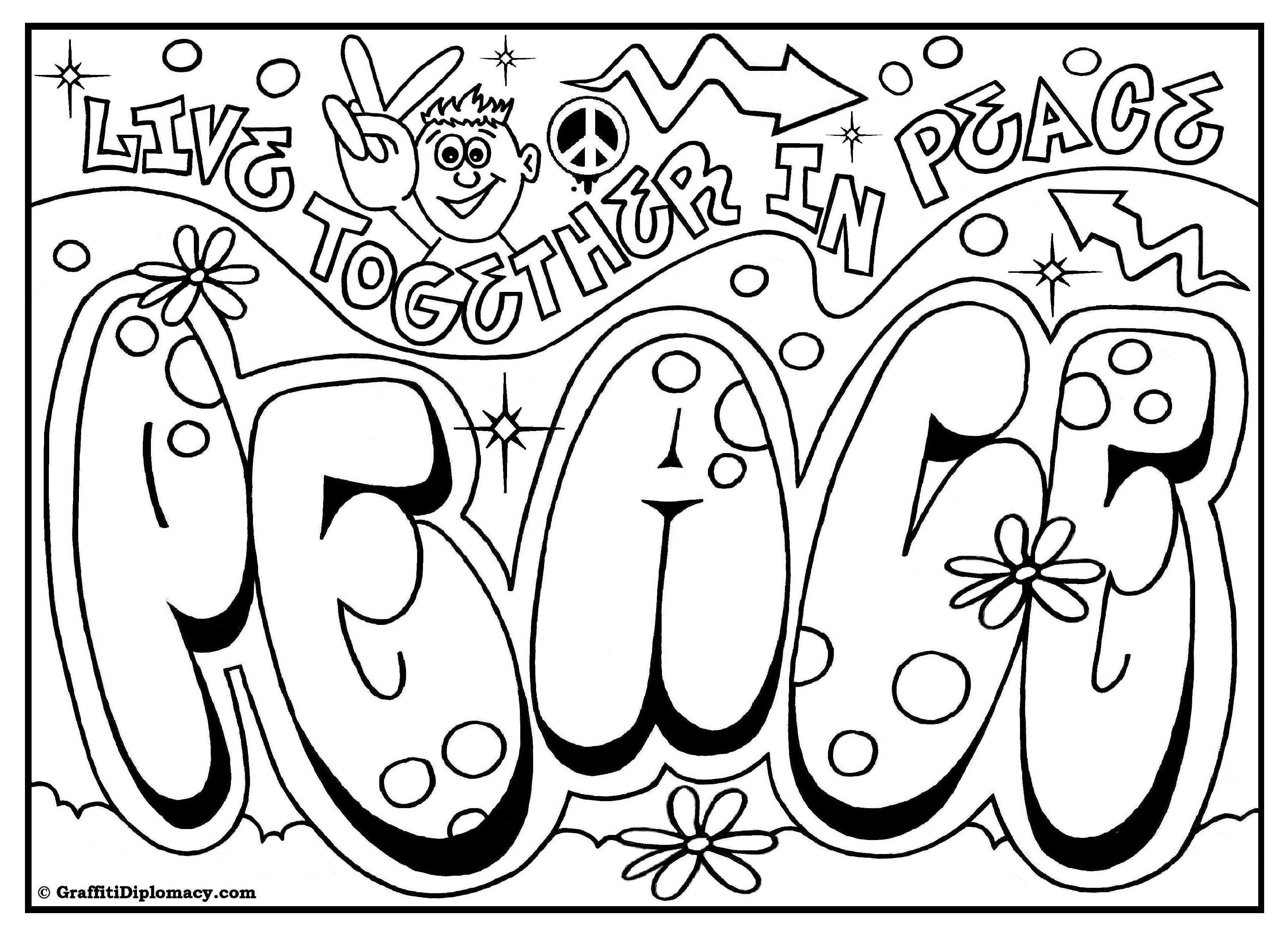 Graffiti Schrift Zum Ausmalen Inspirierend 45 Inspirierend Ausmalbilder Graffiti Love Mickeycarrollmunchkin Fotografieren