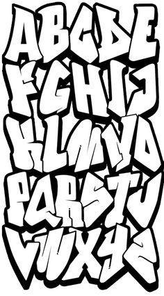 Graffiti Schrift Zum Ausmalen Inspirierend Graffiti Buchstaben A Z Kunst Stock
