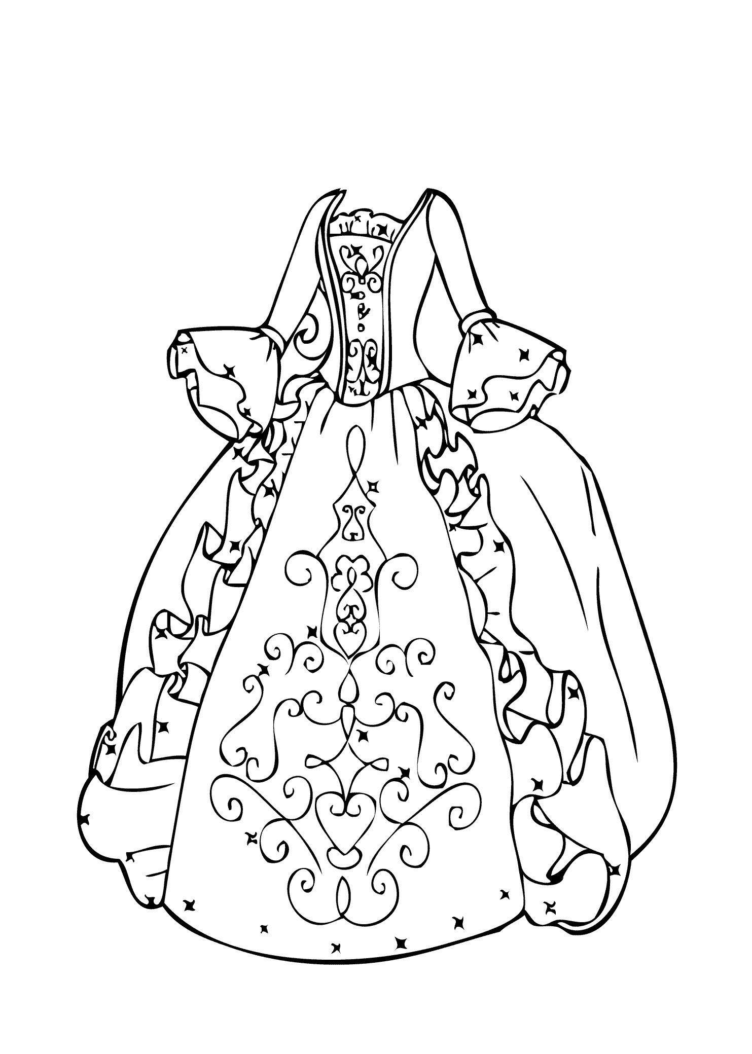 Gruselige Monster Ausmalbilder Genial Ball Gown Coloring Page for Girls Printable Free Einzigartig Böse Fotos