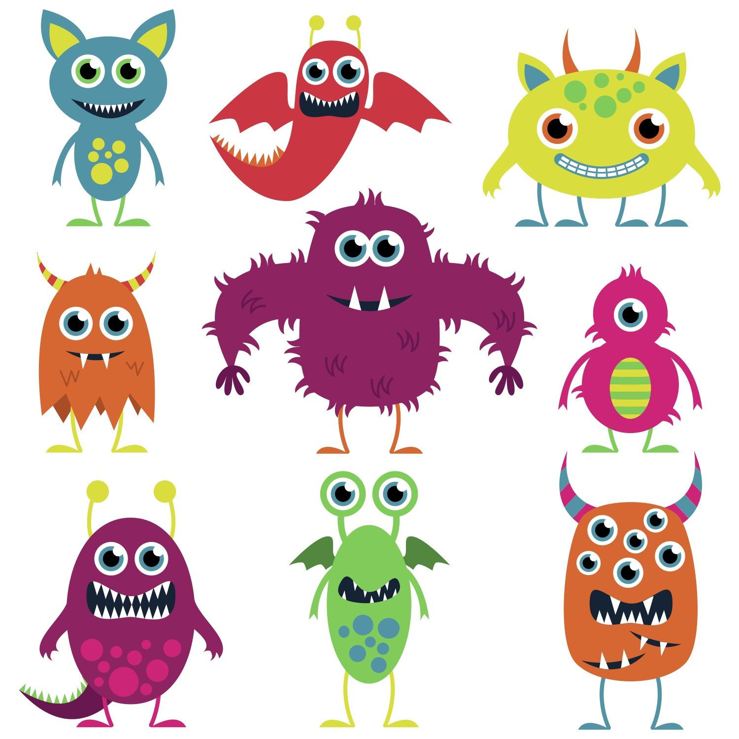 Gruselige Monster Ausmalbilder Inspirierend Friendly Monsters Illustrations Google Search … Neu Böse Monster Das Bild