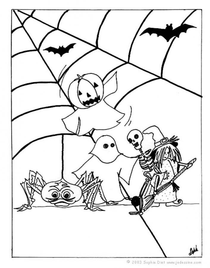 Halloween Ausmalbilder Geister Frisch Halloween Geister Auf Ihren Besen Zum Ausmalen Zum Ausmalen De Bild