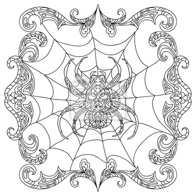 Halloween Ausmalbilder Spinne Inspirierend Spinne Zentangle Ausmalbilder Fototapete • Fototapeten Färben Fotografieren