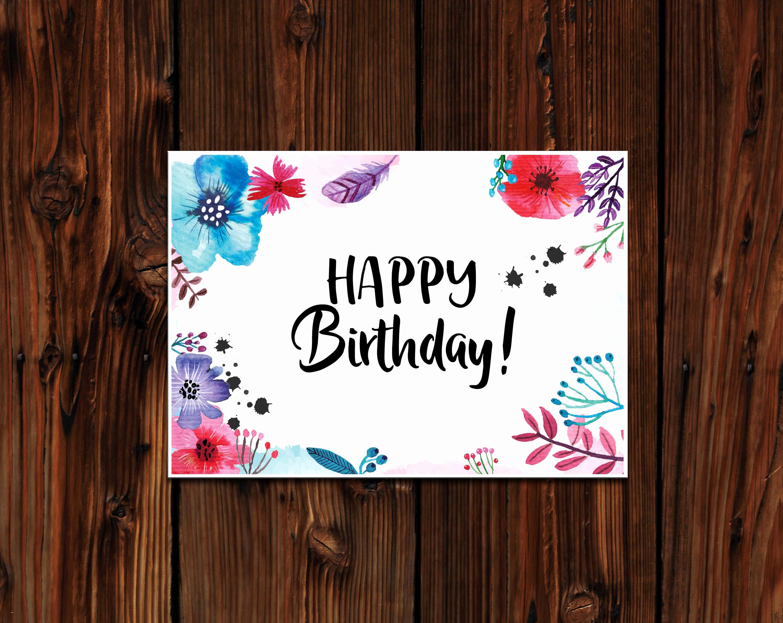 Happy Birthday Zum Ausdrucken Frisch 56 Genial Bilder Von Geburt Karten Drucken Bild