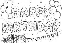 Happy Birthday Zum Ausmalen Einzigartig 16 Best Ausmalbilder Geburtstag Images On Pinterest In 2018 Stock