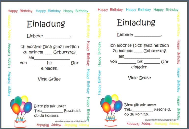 Happy Birthday Zum Ausmalen Einzigartig Einladungen 50 Einladungen Einladung 50 Geburtstag Vorlage Einladung Das Bild