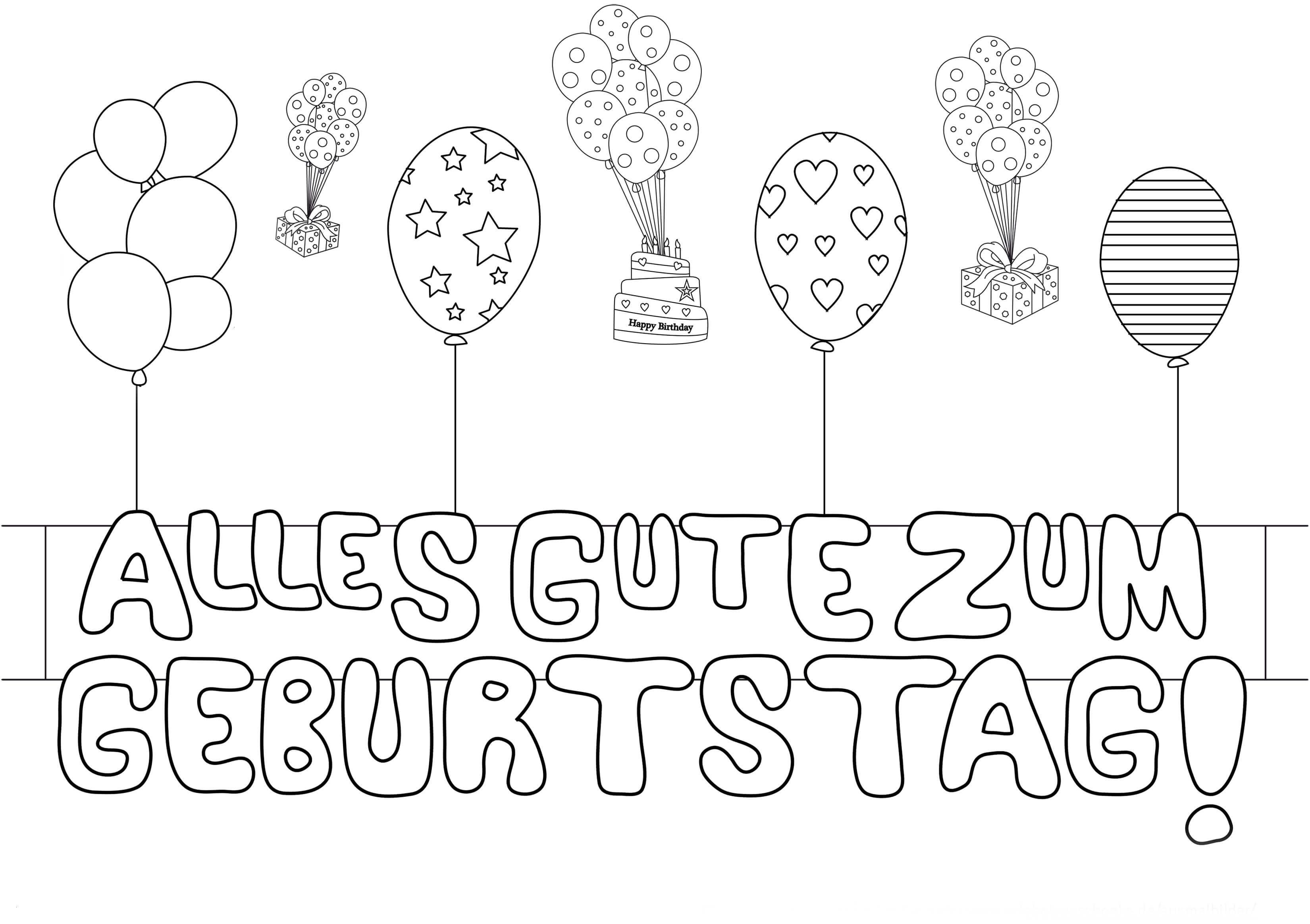 Happy Birthday Zum Ausmalen Frisch 50 Best Geburtstag Ausmalbilder Beste Malvorlage Bild