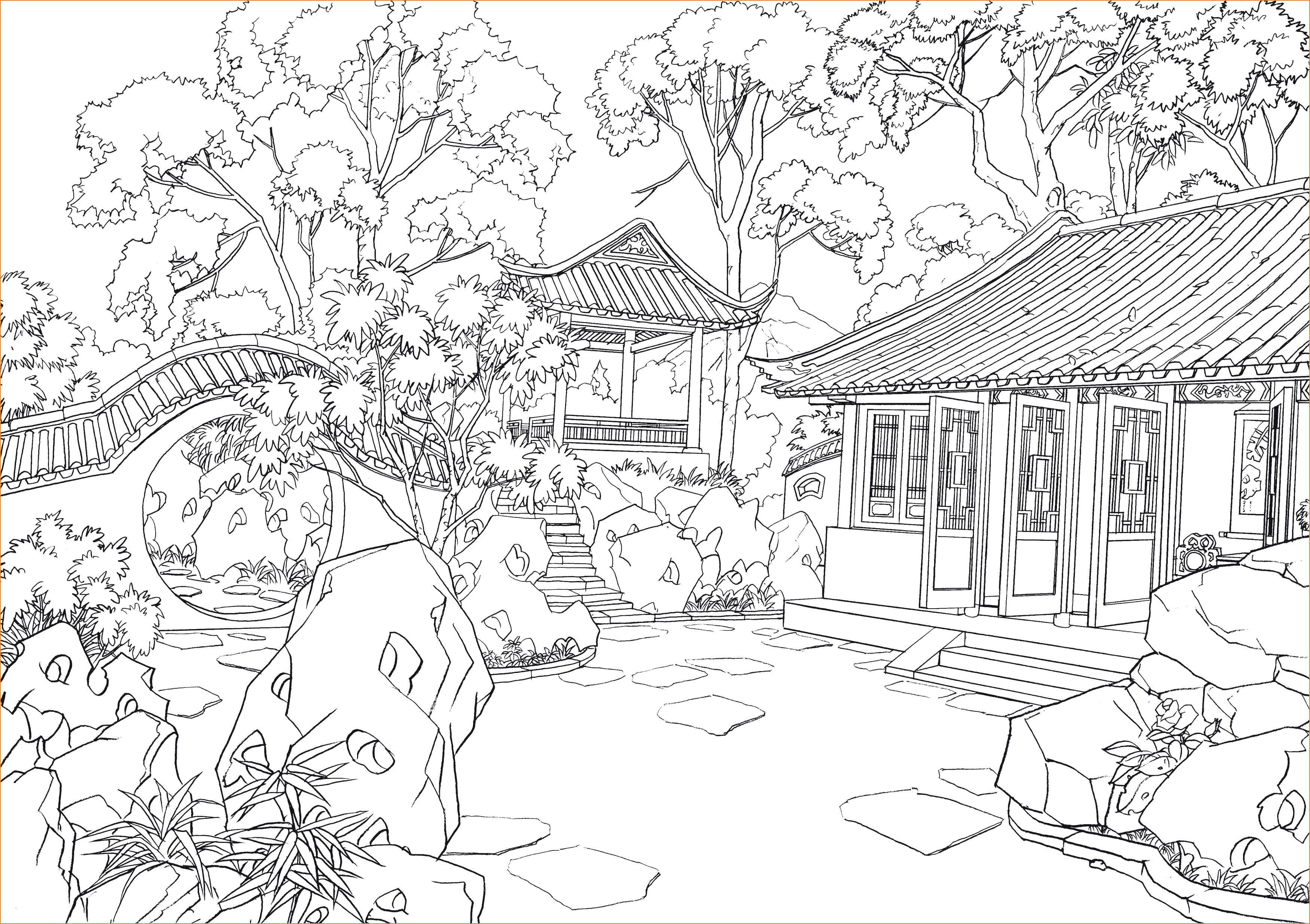 Haus Mit Garten Ausmalbild Einzigartig Ausmalbilder Haus Von Innen Neu Blechtiere Für Garten Schön 45 Avec Bilder